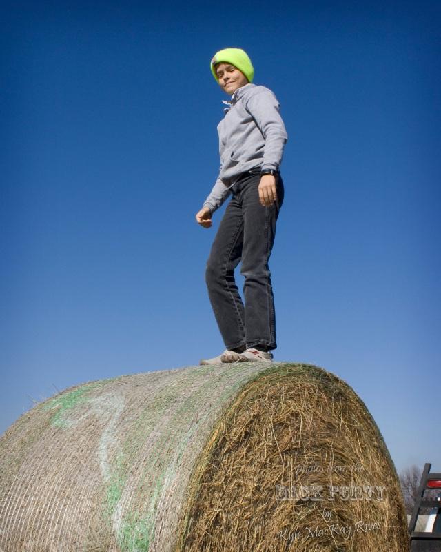 Large, Round Hay Bale